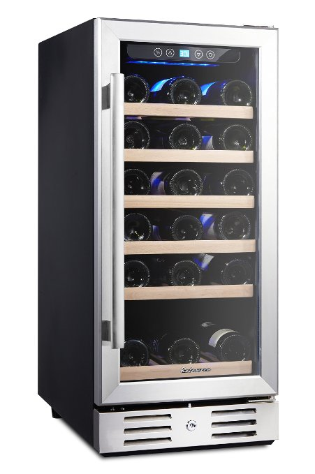 Kalamera 15'' Wine Refrigerator 30 Bottle Built-in Single Zone with Touch Control