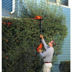Black & Decker LPHT120 18-Inch 20-Volt Lithium-Ion Cordless Pole Hedge Trimmer